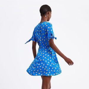 Zara Dresses - ZARA Ocean Blue Pineapple Mini Dress